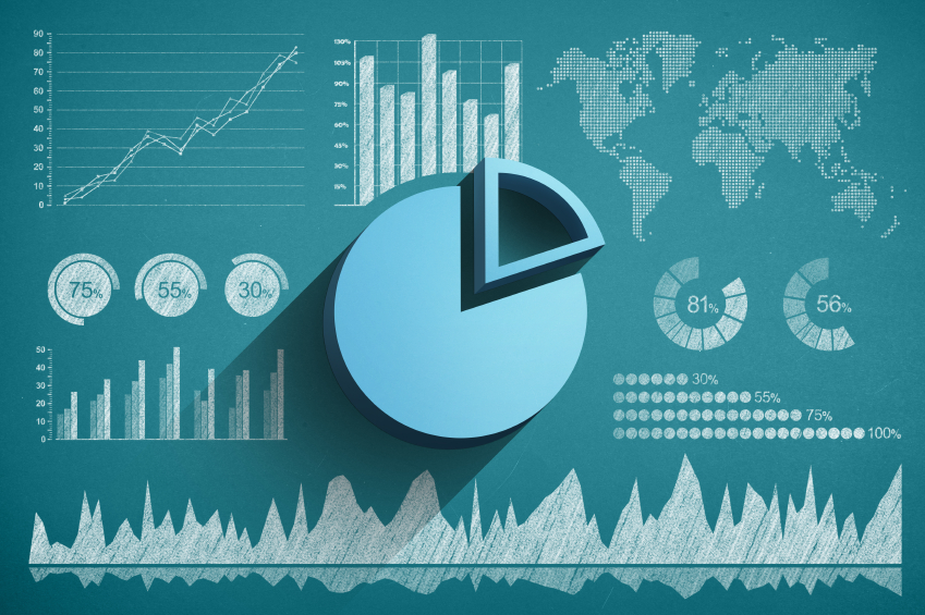 Website statistics graphs